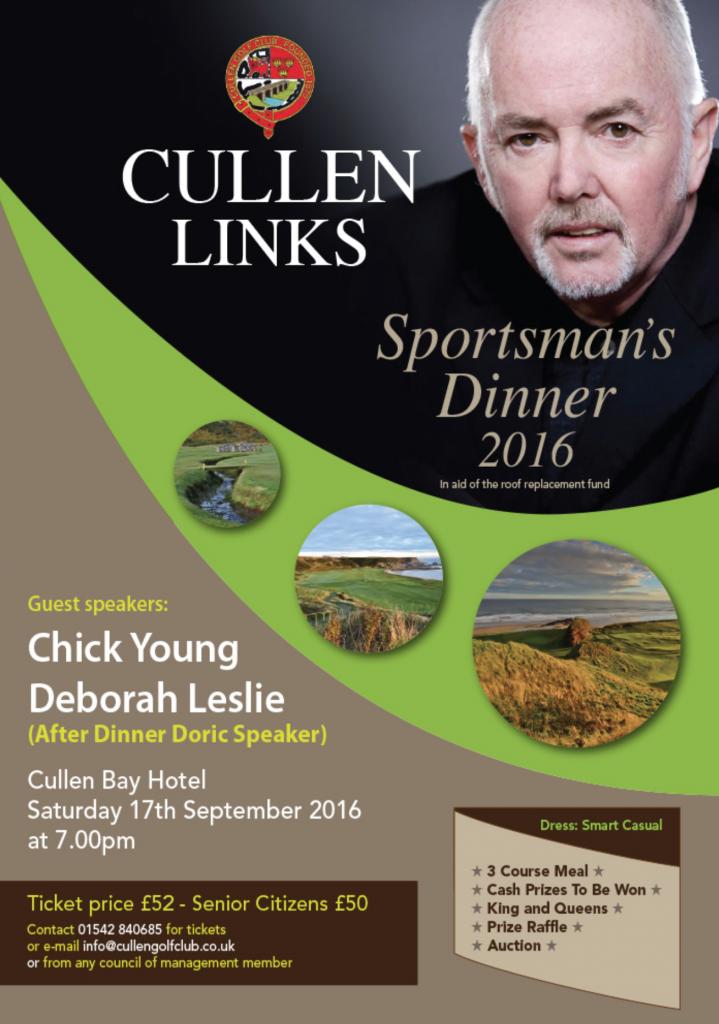 Cullel Links Sportsman's Dinner 2016